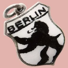 800 Silver BERLIN Charm - Souvenir of Germany - Travel Shield