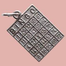 Sterling Bingo Card Vintage Charm