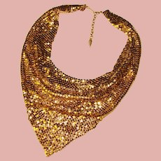 Fabulous WHITING & DAVIS Vintage Scarf Style Mesh Necklace