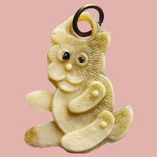Vintage Celluloid TEDDY BEAR Toy Estate Charm