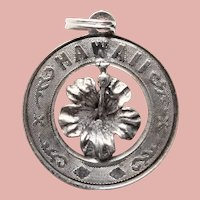 Sterling HAWAII Vintage Charm - State Souvenir
