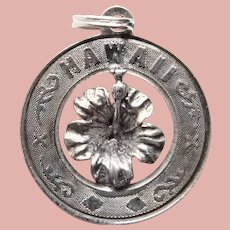 Sterling HAWAII Vintage Charm - State Souvenir