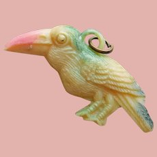 Vintage Celluloid BIRD Estate Charm