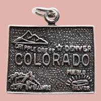 Sterling COLORADO Vintage Charm - State Souvenir
