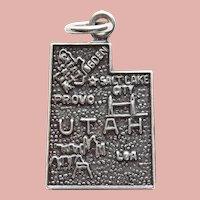 Sterling UTAH Vintage Charm - State Souvenir