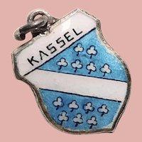 800 Silver & Enamel KASSEL Charm - Souvenir of Germany - Travel Shield