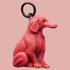 Vintage Celluloid Long Nose DOG Estate Charm