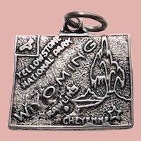 Sterling WYOMING Vintage Charm - State Souvenir