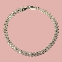 Fabulous MILOR STERLING Italian Sparkle Link Design Bracelet
