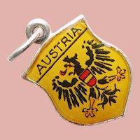 800 Silver & Enamel AUSTRIA Charm - Souvenir Travel Shield