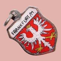 800 Silver & Enamel FRANKFURT Charm - Souvenir of Germany - Travel Shield