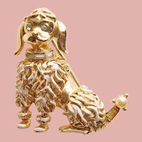 Awesome CORO Poodle Dog vintage Brooch