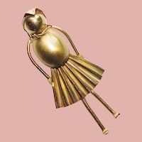 Awesome MACHINE AGE Lady Vintage Brooch