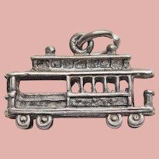 Sterling Danecraft CABLE CAR Vintage Estate Charm