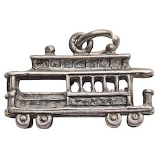 Sterling Danecraft CABLE CAR Vintage Estate Charm