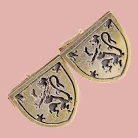 Sterling FENWICK & SAILORS Rampant Lion Cufflinks - Heraldic Lion Courage