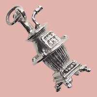 Sterling POT BELLIED STOVE Vintage Estate Charm