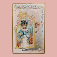 Antique Girl & Boy Valentine Postcard - Raphael Tuck & Sons