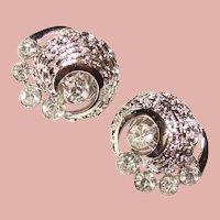 Gorgeous TRIFARI Signed Vintage Rhinestone Earrings
