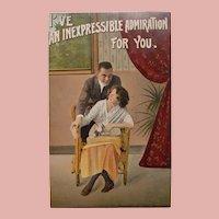 Antique Inexpressible Admiration Postcard