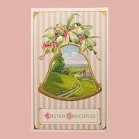 Antique Easter Greetings Postcard - Printed in Germany