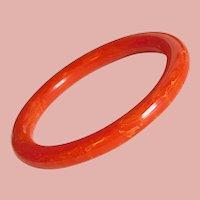 Gorgeous BAKELITE Orange Vintage Bangle Bracelet