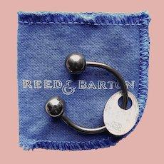Awesome REED & BARTON Sterling Key Ring - Key Holder