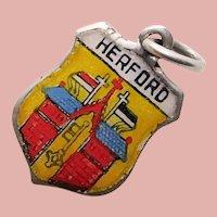 830 Silver & Enamel HERFORD Charm - Souvenir of Germany - Travel Shield