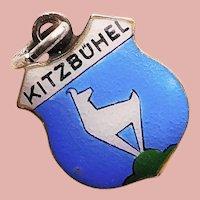 900 Silver & Enamel KITZBUHEL Charm - Souvenir of Austria - Travel Shield