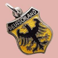 Sterling & Enamel GERMANY Deutschland Vintage Estate Charm - Souvenir Travel Shield