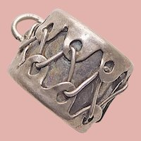 Awesome Sterling DRUM Vintage Charm