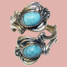 Gorgeous BEAU STERLING Blue Stones Vintage Ring