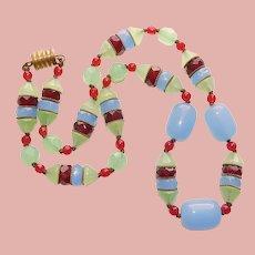 Fabulous ART DECO Era Glass Bead Necklace