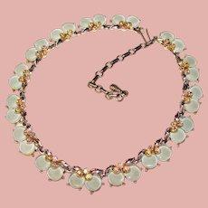 Fabulous BLUE STONES Vintage Aurora Rhinestone Necklace
