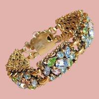 Fabulous BARCLAY Pastel Rhinestone Vintage Bracelet