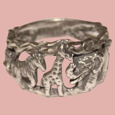 Awesome STERLING Animal Designs Ring