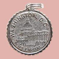 Sterling WASHINGTON DC Capitol Vintage Charm -  Souvenir of USA United States of America