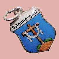 830 Silver & Enamel OBERAMMERGAU Vintage Charm - Souvenir of Germany - Travel Shield