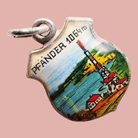 800 Silver & Enamel PFANDER Charm - Souvenir of Austria - Travel Shield