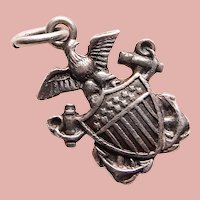 Sterling NAVY Sweetheart Vintage Charm