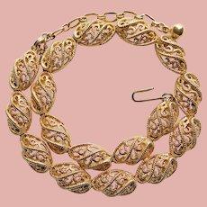 Gorgeous TRIFARI Openwork Link Vintage Necklace