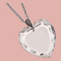 Gorgeous Crystal HEART Pendant Necklace