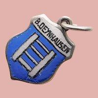 830 Silver & Enamel BAD OEYNHAUSEN Charm - Souvenir of Germany - Travel Shield