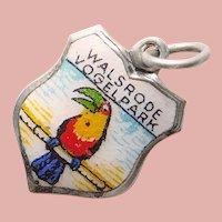 800 Silver & Enamel WALRODE BIRD PARK Vogelpark Charm - Weltvogelpark - Souvenir of Germany - Travel Shield