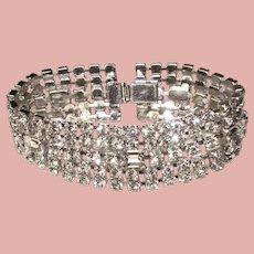 Fabulous Vintage Sparkling Rhinestone Bracelet