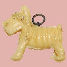 Vintage Celluloid DOG Estate Charm - Terrier Scottie Scotty