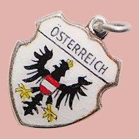 800 Silver & Enamel AUSTRIA Osterreich Charm - Souvenir Travel Shield