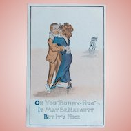 Antique NAUGHTY BUT NICE Humorous Estate Postcard