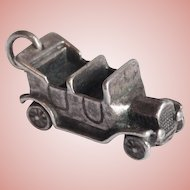 Sterling Jalopy Car Vintage Estate Charm