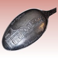 Antique Los Angeles Mission Sterling Estate Souvenir Spoon